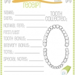 Tooth fairy receipt template 1