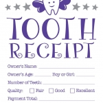 Tooth fairy receipt template 2
