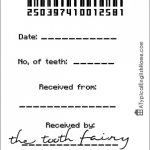 Tooth fairy receipt template 5