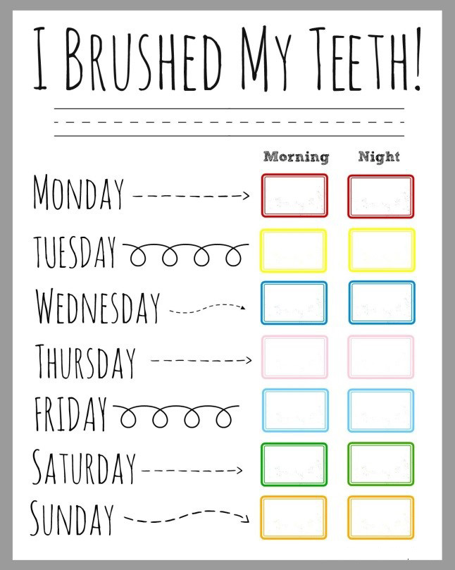 Weekly-Brushing-Chart